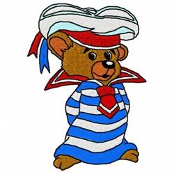 Bear Sailor embroidery design