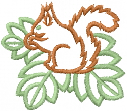 Squirrel Outline embroidery design