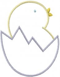 Chick Egg Outline embroidery design