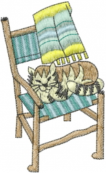 Cat In Chair embroidery design