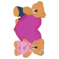Lovely Bears embroidery design