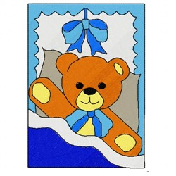 Bear Picture embroidery design