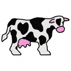 Milking Cow embroidery design