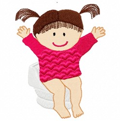 Girl Potty embroidery design