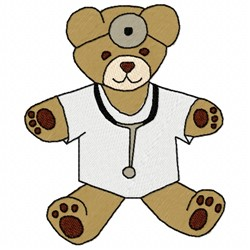 Doctor Bear embroidery design