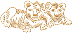Lion Cub Outline embroidery design