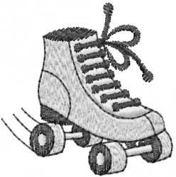 Roller Skate Shoe embroidery design