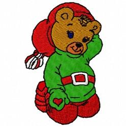 Xmas Bear embroidery design
