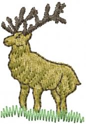 Elk Deer embroidery design