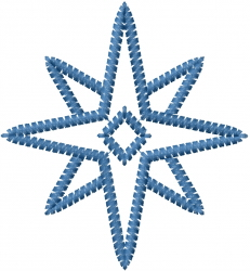 Star Snowflake Outline embroidery design