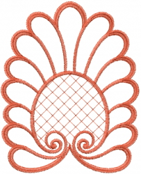 Swirl Redwork Outline embroidery design
