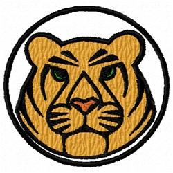 Tiger Circle embroidery design