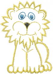 Cartoon Lion Outline embroidery design