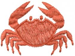 Redwork Crab embroidery design