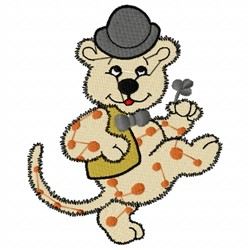 Dancing Leopard embroidery design
