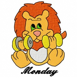 Monday Lion embroidery design