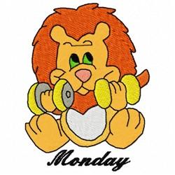 Monday Lion embroidery design