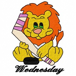 Wednesday Lion embroidery design