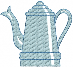Old Teapot embroidery design