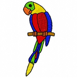 Parrot Perch embroidery design