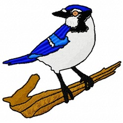 Bluejay Branch embroidery design