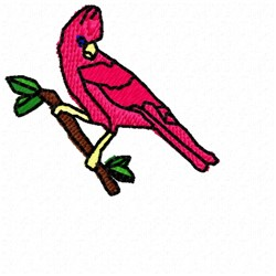 Cardinal On Perch embroidery design