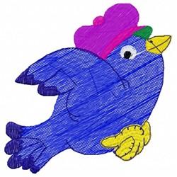 Mrs Bird embroidery design