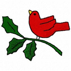 Holly Cardinal embroidery design