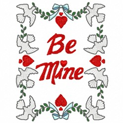 Be Mine Doves embroidery design