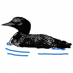 Water Duck embroidery design