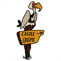 Castle Creepie embroidery design