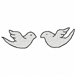 Doves Outline embroidery design