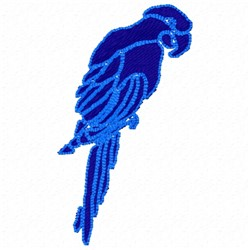 Parrot Silhouette embroidery design