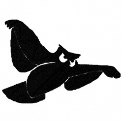 Owl Shadow embroidery design