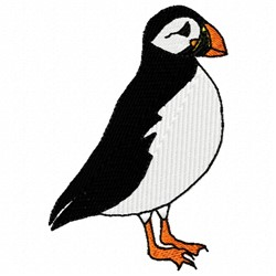 Actic Puffin embroidery design