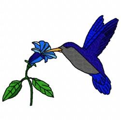 Blue Hummingbird embroidery design