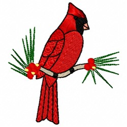 Winter Cardinal embroidery design