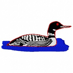 Common Loon embroidery design
