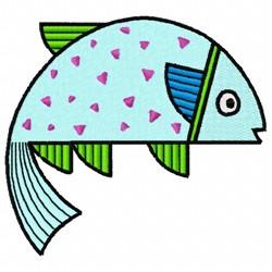 Single Fish embroidery design