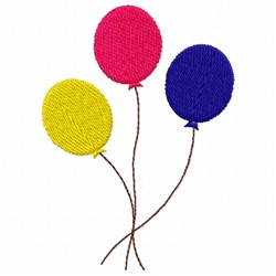 Colored Balloon embroidery design