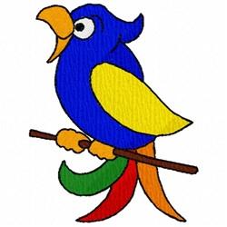 Tropical Bird embroidery design