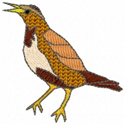Common Brown Bird embroidery design