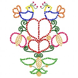 Bird & Flower Candlewick embroidery design