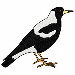 Magpie embroidery design