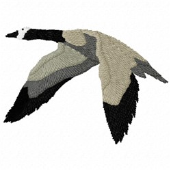 Canadian Goose in Flight embroidery design