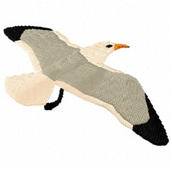 Gull in Flight embroidery design
