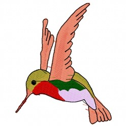 Hummingbird in Flight embroidery design