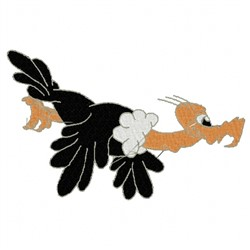 Humorous Vulture embroidery design