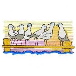 Sea Gulls embroidery design