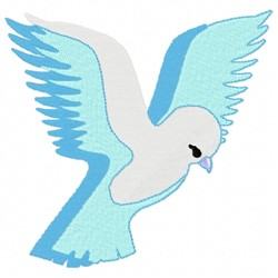 Dove in Flight embroidery design
